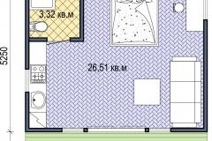 План сборного дачного домика Prefab Homes Lounge 30