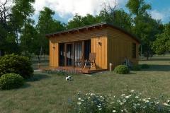Проект домика для дачи Prefab Homes Lounge 30 кв. м