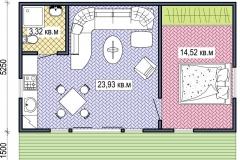 План сборного дачного домика Prefab Homes Lounge 42