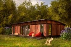 Проект домика для дачи Prefab Homes Lounge 42 кв. м