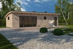 Проект домика для дачи Prefab Homes Lounge 55 кв. м