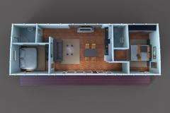 3D-план дачного домика Lounge 75 кв. м