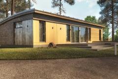 Проект домика для дачи Prefab Homes Lounge 75 кв. м
