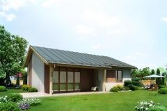 Каркасный панельный дом Prefab Homes Modular 69 кв. м