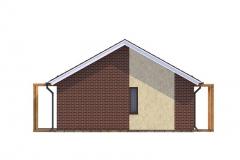 Проект дома из СИП панелей Prefab Homes Modular 69 кв. м