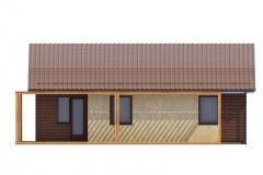 Проект каркасного дома Prefab Homes Modular 69 кв. м