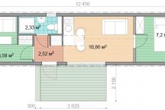 План мобильного дома Prefab Homes Mobile 30 кв. м