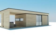 Другой взгляд на модульный домик Modern 25 кв. м