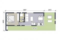 План модульного домика Prefab Homes Modern 25 кв. м