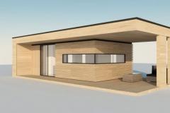 Проект модульного домика Prefab Homes Modern 25 кв. м