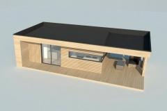 Модульный домик Prefab Homes Modern 25 кв. м - вид сверху под углом