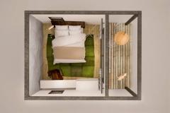 3D-план модульного домика дома Smart 11 кв. м