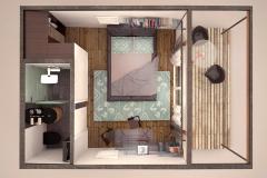 3D-план модульного домика Prefab Homes Smart 15