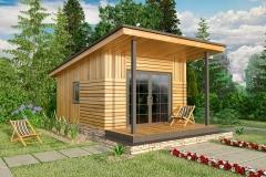 Проект модульного домика Prefab Homes Smart 15 кв. м