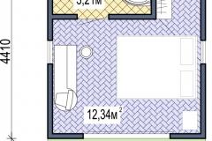 План модульного домика Prefab Homes Smart 15