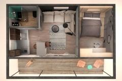 3D-план модульного домика Prefab Homes Smart 27