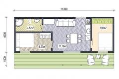 План модульного дома Prefab Homes Smart 40