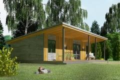 Фото проекта модульного дома Smart 40 кв. м сбоку