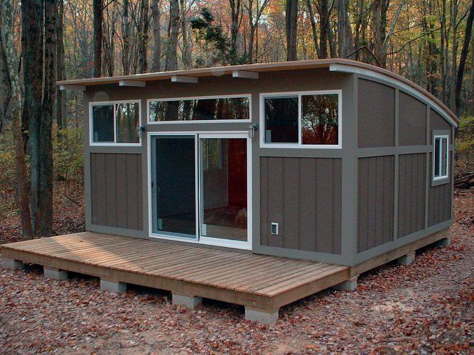 Маленький домик совсем близко к природе