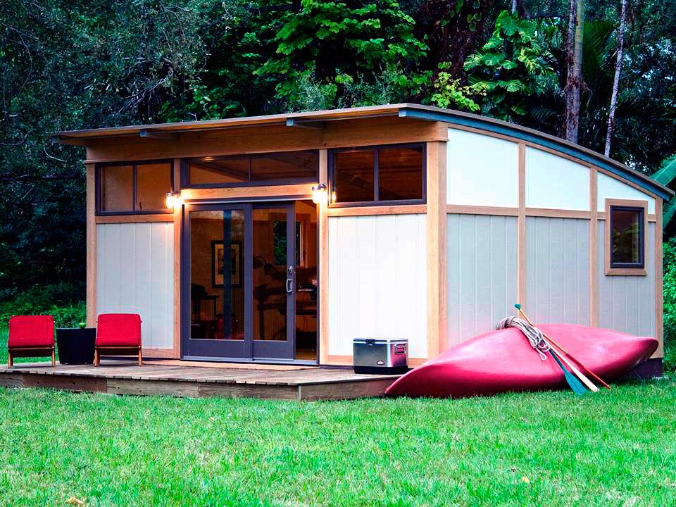 Садовый домик из СИП панелей