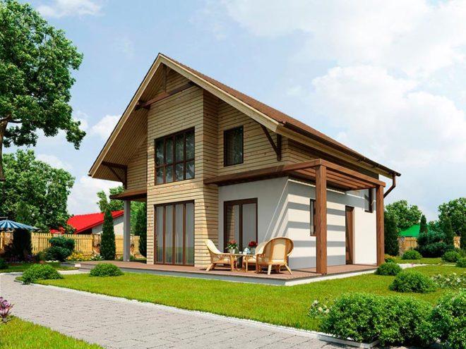 Каркасный дом из СИП панелей Modular 128 кв. м