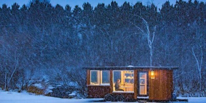 Модульный дом Escape Vista зимой