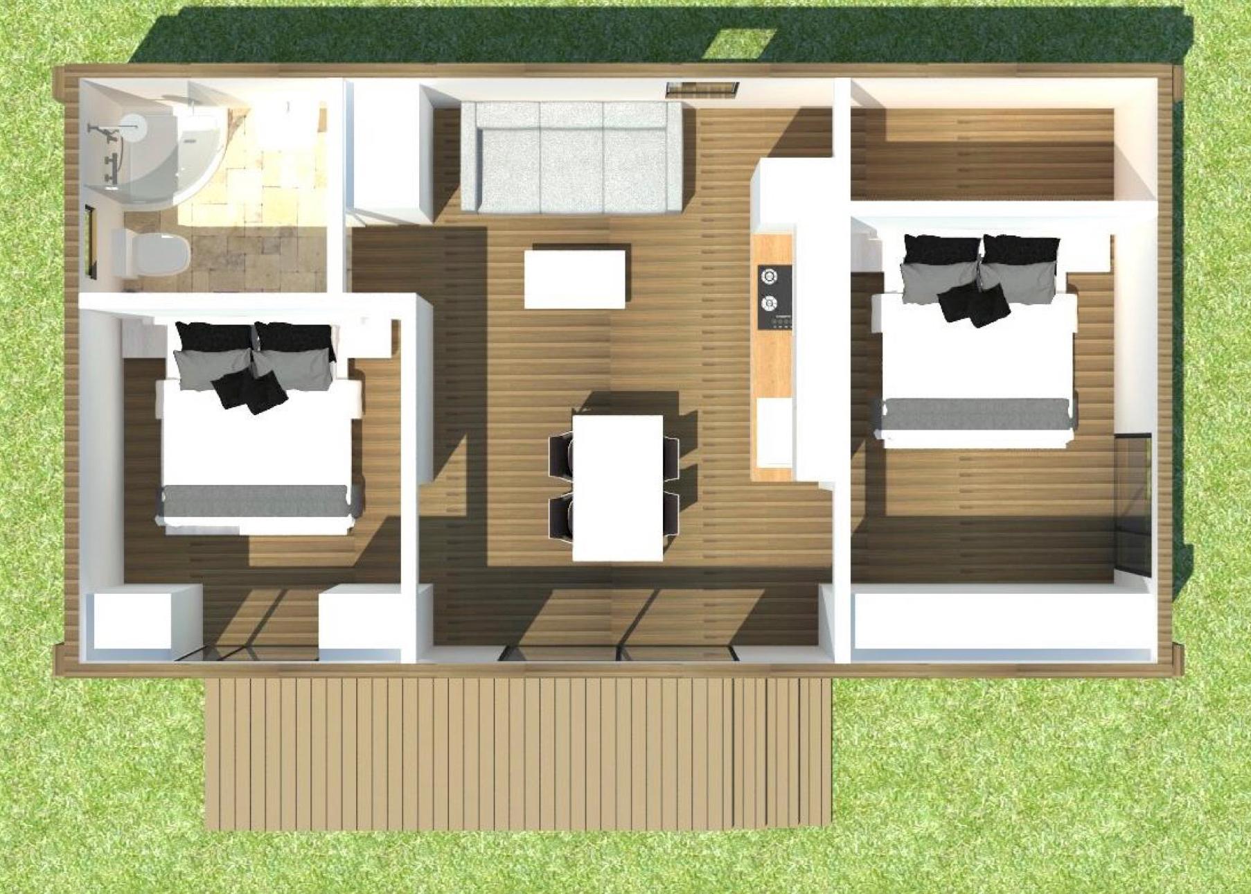 Проект Mobile 42 - план этажа вид сверху