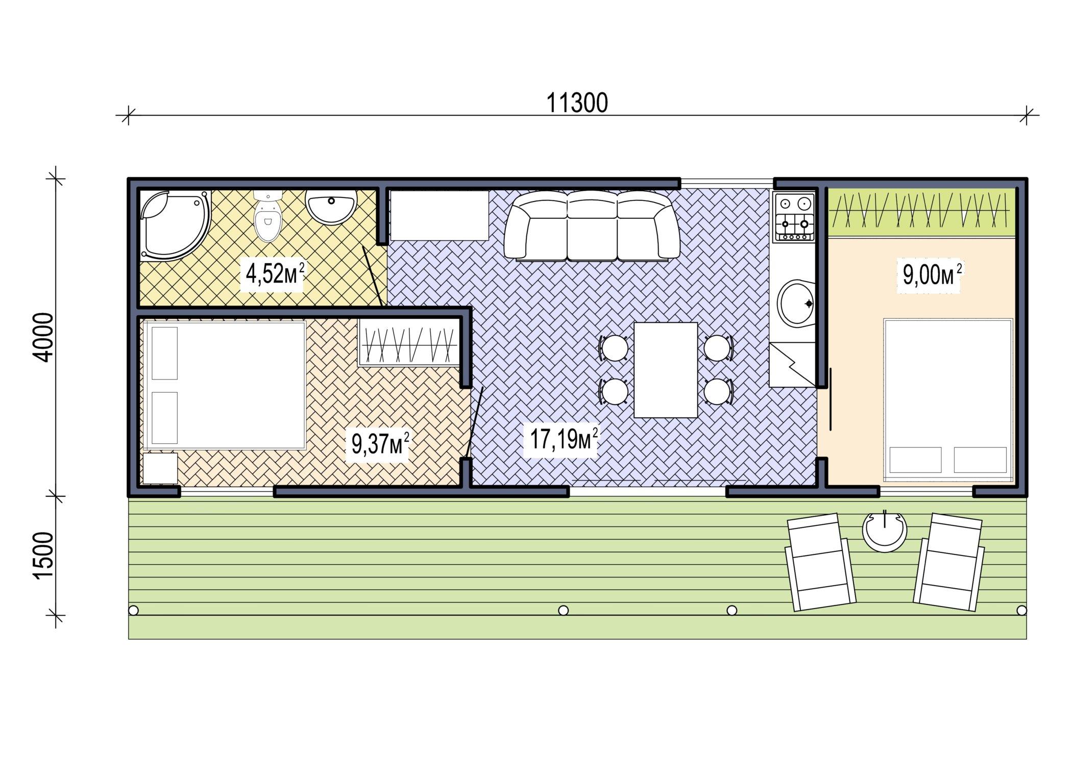 Проект Mobile 42 - план этажа