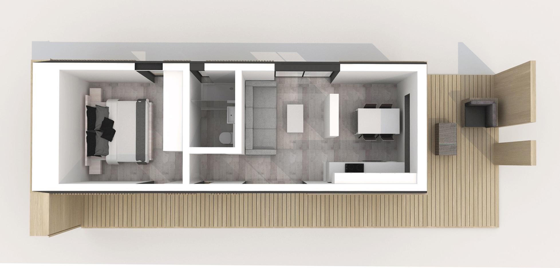 Проект Modern 35 - план этажа, фото 2