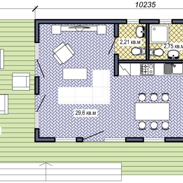 Проект Modern 52 - план этажа