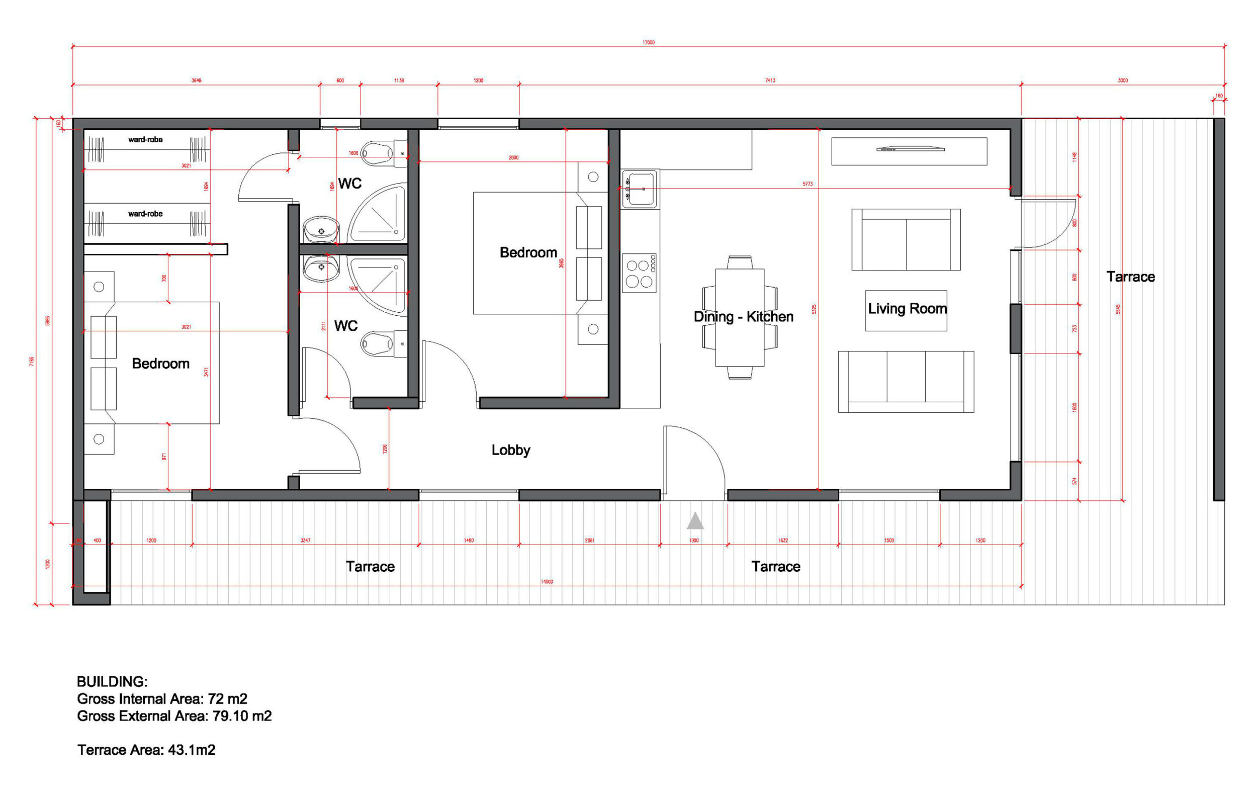 Проект Modern 80 - план этажа