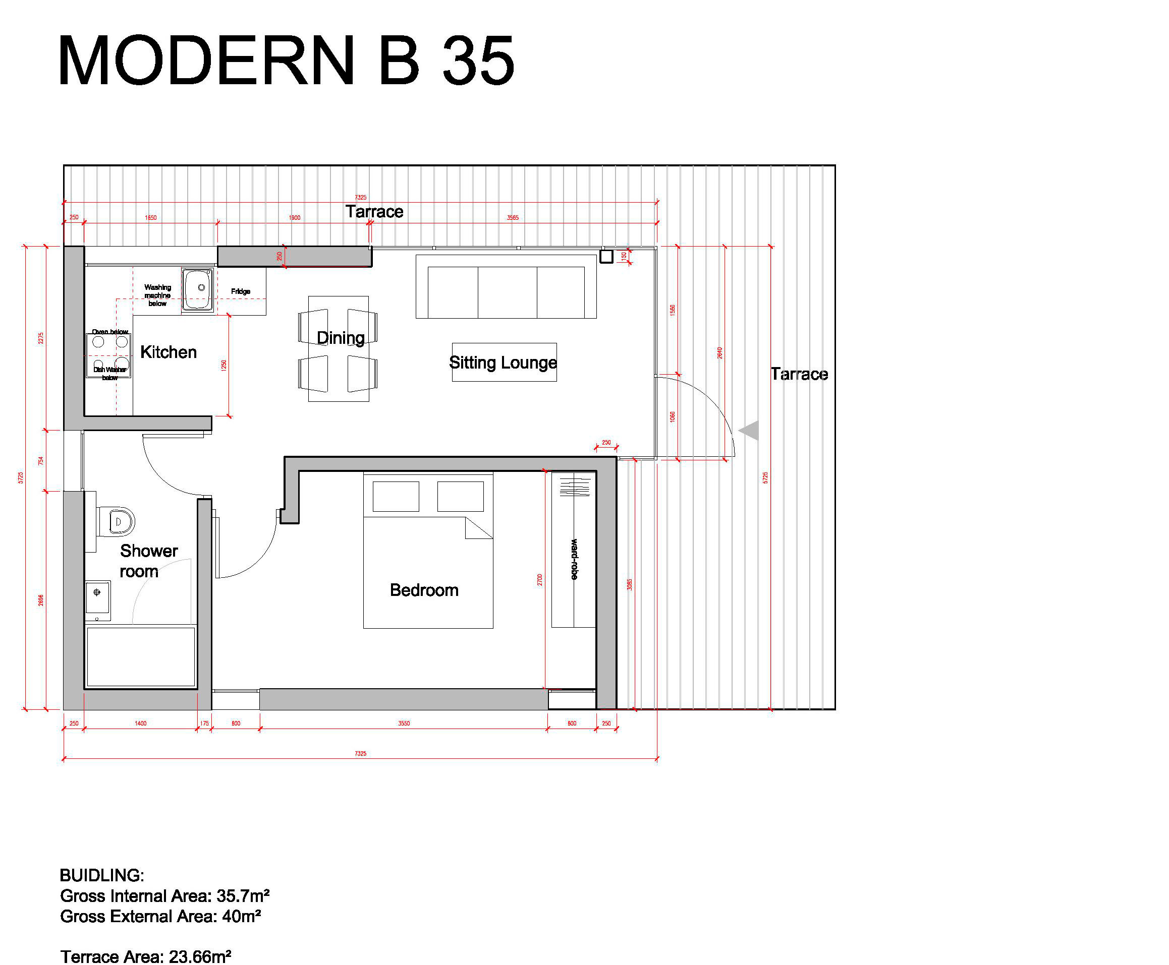 Проект Modern-B 35 - план этажа