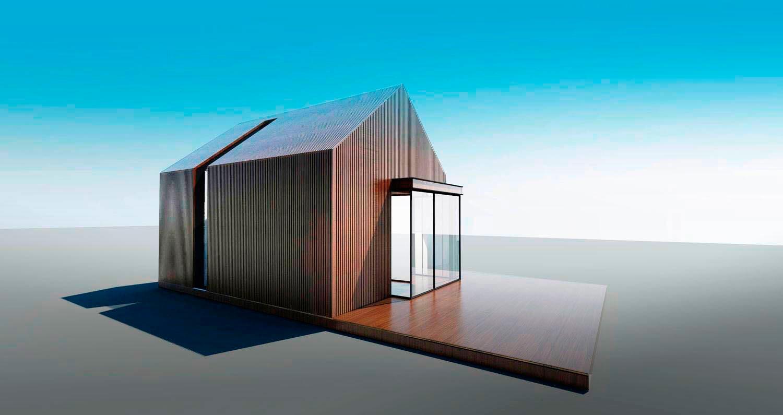 Проект дома Modern-B 22 кв. м