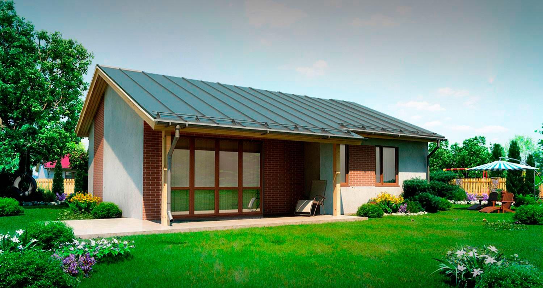 Проект каркасно панельного дома Modular 69 кв. м