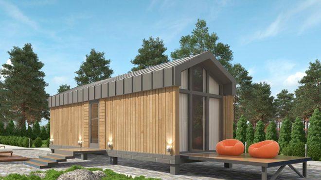Сборный проект Мобильная баня - сауна 20 кв. м