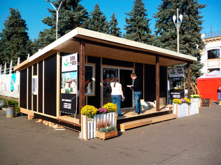 Сборный домик Smart 27 на выставке