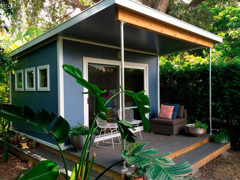 Модульный домик Smart хорошо сочетается с природой
