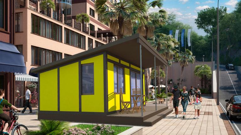 Модель сборного дома Prefab Homes Smart
